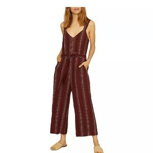 Sanctuary Red Sedona jumpsuit henna stripe/size xl